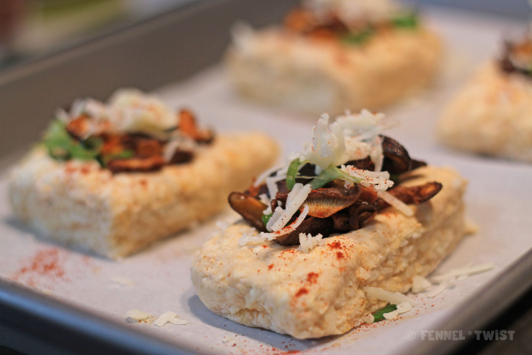 Smoky Manchego Mushroom Biscuits